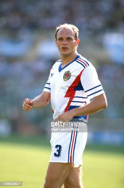 June 1990 Florence : Fifa World Cup : Argentina v Yugoslavia - Predrag Spasic of Yugoslavia.