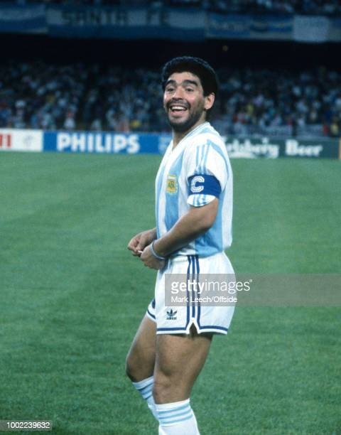 June 1990 - Naples - FIFA World Cup - Argentina v Romania - Diego Maradona of Argentina -