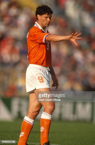 June 1992 Gothenburg, UEFA European Football Championships semi final, Netherlands v Denmark - Marco van Basten of Netherlands