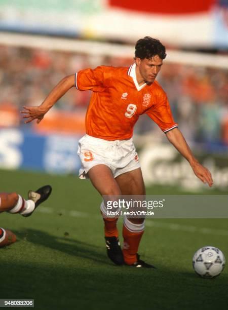 22 June 1992 Gothenburg UEFA European Football Championships semi final Netherlands v Denmark Marco van Basten of Netherlands