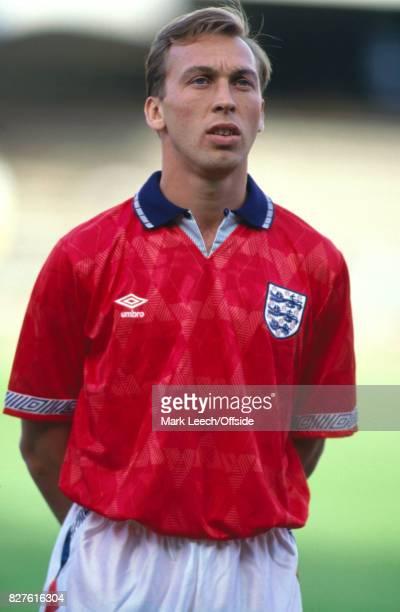 June 1992 International football friendly - Finland v England:David Platt of England stands for the national anthem.Photo: Mark Leech