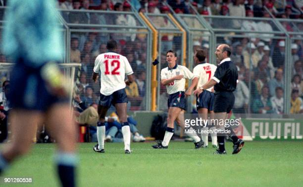 UEFA European Football Championships Sweden v England Gary Lineker throws the captain armband to Carlton Palmer as he is substituted by England...