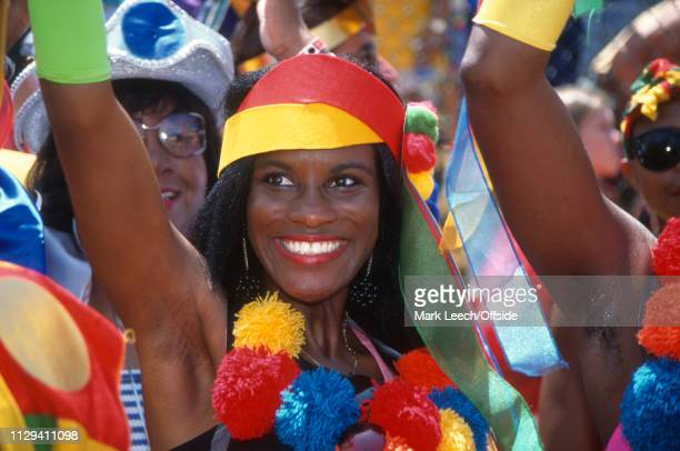 19 June 1994 FIFA World Cup Pasadena Cameroon v Sweden A Cameroon fan in the crowd