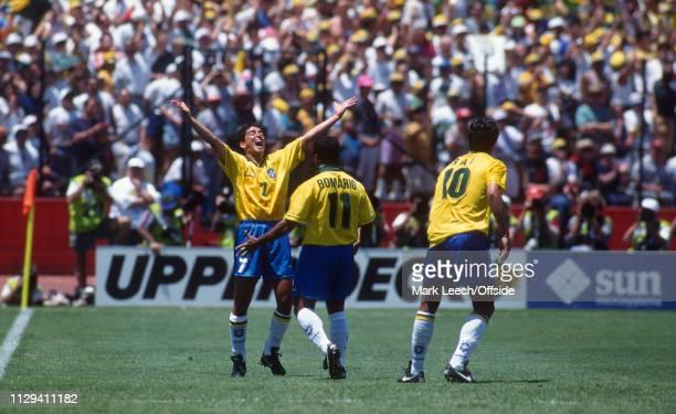 June 1994, FIFA World Cup, Stanford Stadium, Brazil v Russia, Bebeto and Romario of Brazil celebrate their opening goal.