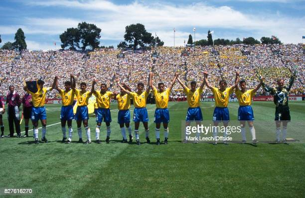 Fifa World Cup Brazil v Cameroon The Brazilian team greet the fans in San FranciscoPhoto Mark Leech