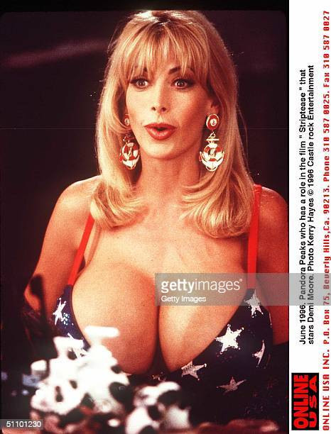 June 1996 Pandora Peaks Who Has A Role In The Film ' Striptease' Starring Demi Moore