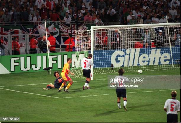 June 1998 - FIFA World Cup - England v Romania - Dan Petrescu of Romania scores a 90th minute winner.