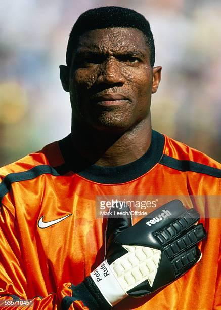 19 June 1998 FIFA World Cup Nigeria v Bulgaria Nigerian goalkeeper Peter Rufai