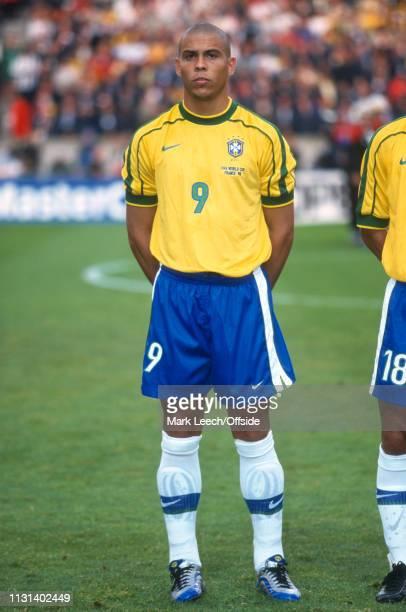 June 1998 - FIFA World Cup - Parc des Princes - Brazil v Chile - Ronaldo of Brazil. -