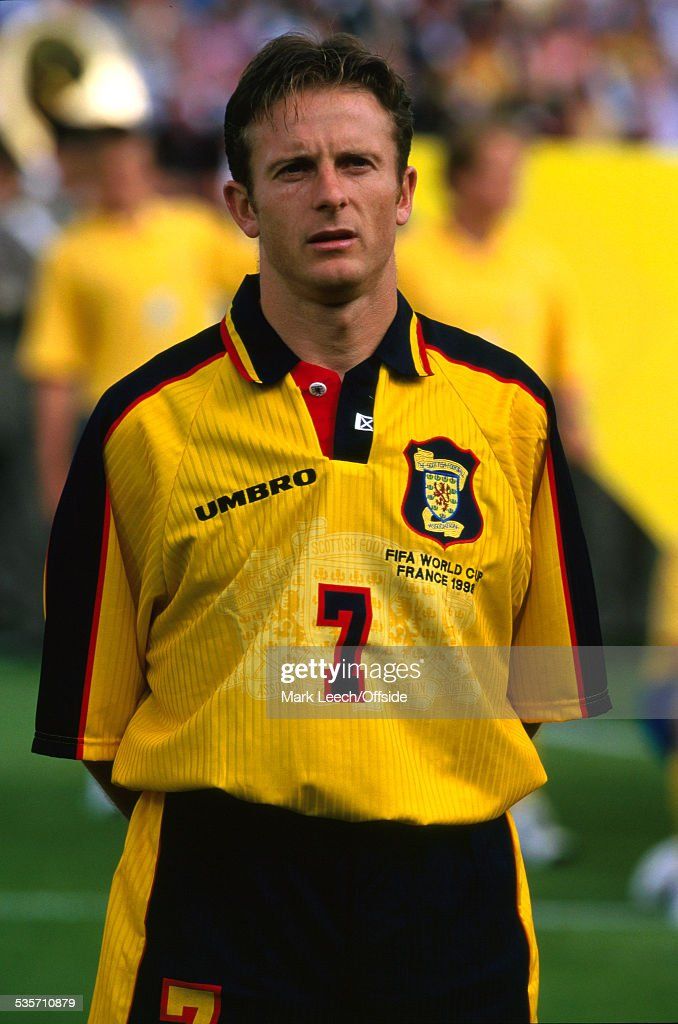 16 June 1998 FIFA World Cup, Scotland v Norway, Kevin Gallagher of Scotland.