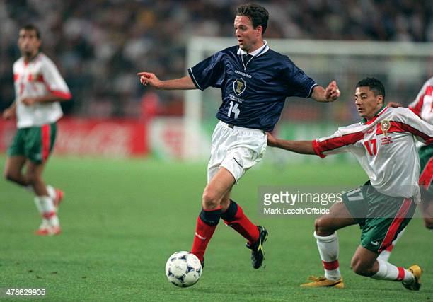 June 1998 - Football World Cup 1998 - Scotland v Morocco - Paul Lambert of Scotland in action.