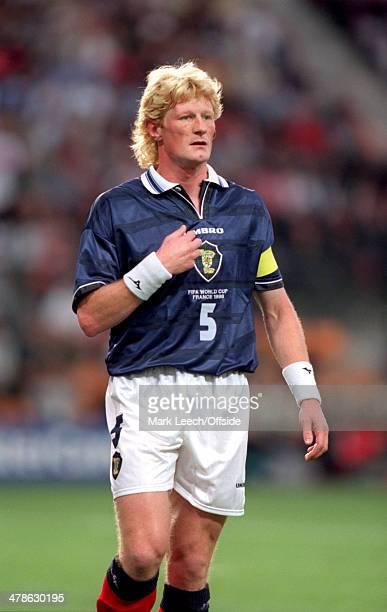 June 1998 - Football World Cup 1998 - Scotland v Morocco - Scotland Captain Colin Hendry in action.