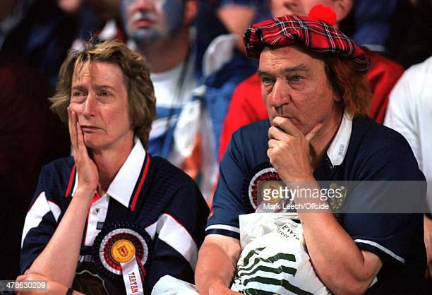 June 1998 - Football World Cup 1998 - Scotland v Morocco - Scotland fans look dejected after losing 3-0 to Morocco.