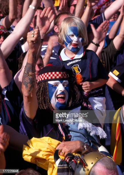 16 June 1998 Football World Cup 1998 Scotland v Norway Scotland fans young and old