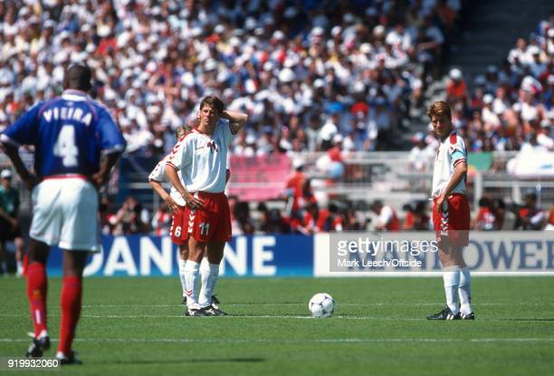 24 June 1998 World Cup 1998 Football France v Denmark brothers Brian Laudrup and Michael Laudrup of Denmark