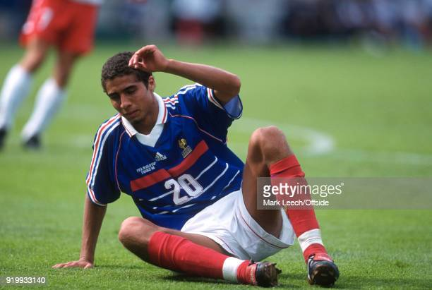24 June 1998 World Cup 1998 Football France v Denmark David Trezeguet of France