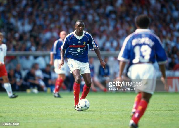 24 June 1998 World Cup 1998 Football France v Denmark Patrick Vieira of France