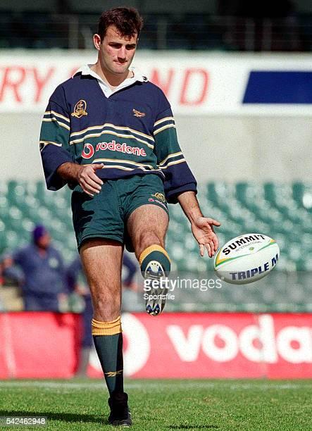 18 June 1999 Australia's Nathan Spooner Australia Rugby Squad Training Subiaco Oval Perth Western Australia Australia Picture credit Matt Browne /...