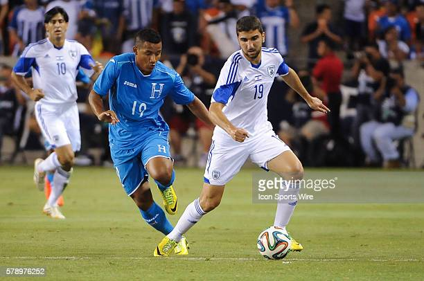 Israel midfielder/forward Muans Dabbur dribbles past Honduras midfielder Luis Garrido during the FIFA international friendly match Honduras vs Israel...