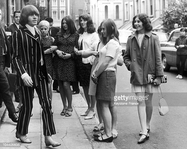June 2 1967 Brian JONES the highly gifted ROLLING STONES musician coming out of the West Court after a first hearing of his trial on charges of...