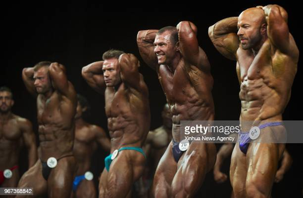 Contestants compete during the 2018 Toronto Pro Supershow IFBB Championships at Toronto Metro Convention Centre in Toronto Canada June 1 2018