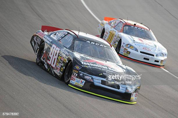 Austin Wayne and Ed Pompa during the SCOTT 150 ARCA Series Race at Chicagoland Speedway in Joliet IL