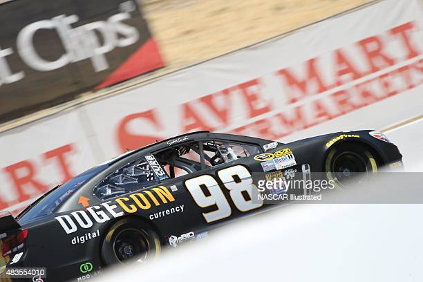 The Dogecoin/Redditcom Chevy SS driven by Josh Wise on track during practice for the NASCAR Sprint Cup Series ToyotaSave Mart 350 at the Sonoma...