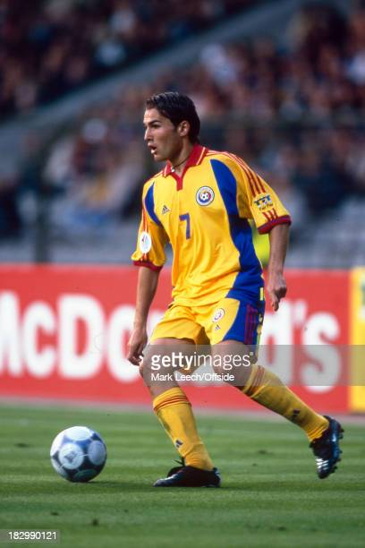24 June 2000 Euro Championships Italy v Romania Adrian Mutu of Romania with the ball