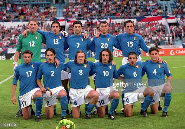 The Italy lineup before the European Under 21's Championships Final against Czech Republic at the Slovan Stadium Bratislava Slovakia Italy won 21...