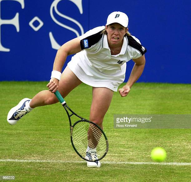 Lisa Raymond of the USA during her first match in the DFS Classic Ladies International Tennis tournament at the Edgbaston Priory Club, Birmingham,...