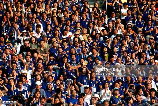 14 June 2002 2002 World Cup Football Tunisia v Japan Japan fans watch the game