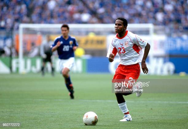 14 June 2002 2002 World Cup Football Tunisia v Japan Jose Clayton of Tunisia