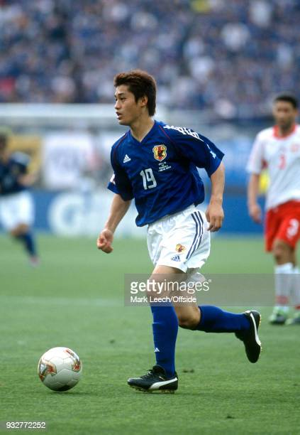 14 June 2002 2002 World Cup Football Tunisia v Japan Mitsuo Ogasawara of Japan