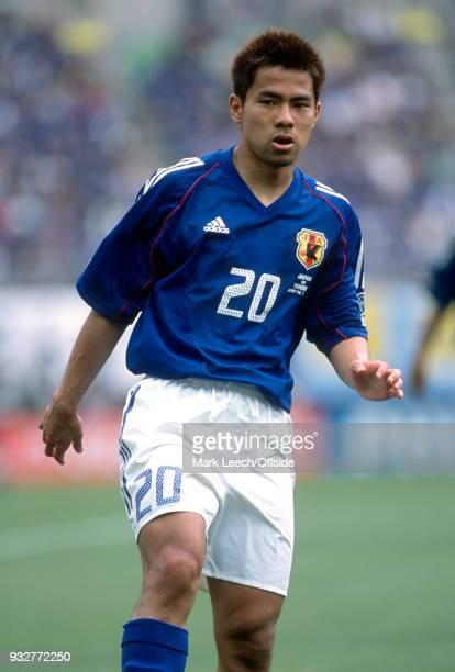 14 June 2002 2002 World Cup Football Tunisia v Japan Tomokazu Myojin of Japan