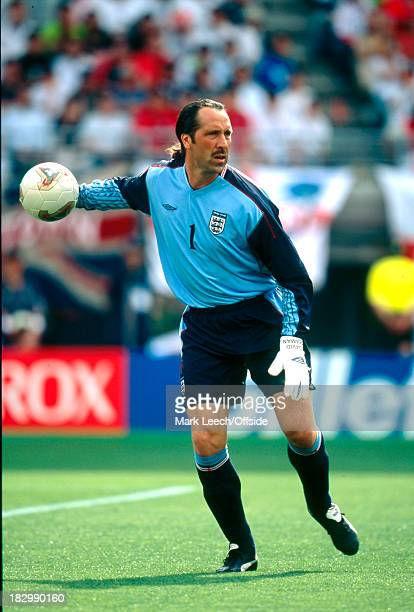 12 June 2002 FIFA World Cup Nigeria v England David Seaman of England prepares to throw the ball out to a team mate