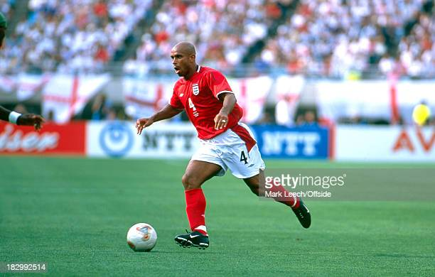 12 June 2002 FIFA World Cup Nigeria v England Trevor Sinclair of England looks to run with the ball out from defence