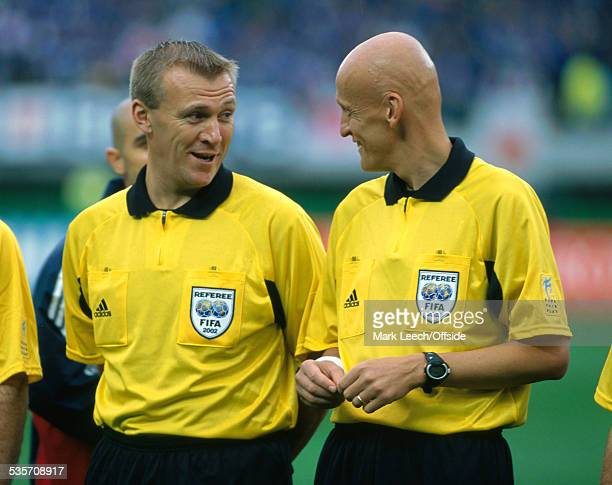 18 June 2002 FIFA World Cup Turkey v Japan Fourth official Graham Poll and referee Pierluigi Collina