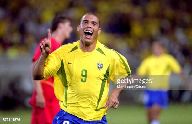 Brazil v Belgium FIFA World Cup Ronaldo celebrates after scoring a goal for Brazil