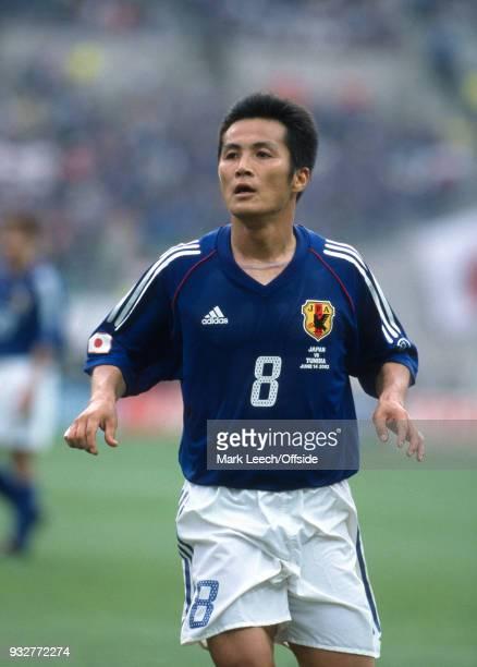 14 June 2002 Osaka FIFA World Cup Japan v Tunisia Hiroaki MORISHIMA of Japan
