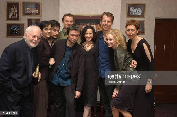19 June 2003 The full cast of Noises Off from left to right ROBIN CUMING CLARE POWELL DAVID TREDINNICK ROSS DANIELS MARK PEGLER MARINA PRIOR RUSSELL...