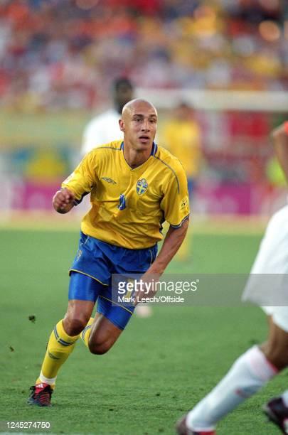 June 2004 - Euro 2004 - Quarter Final - Sweden v Netherlands - Henrik Larsson of Sweden. -