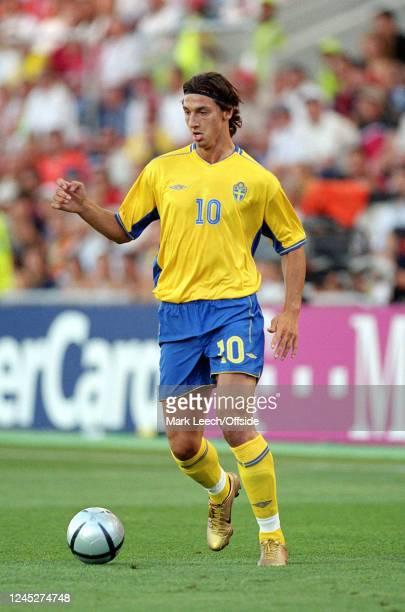 June 2004 - Euro 2004 - Quarter Final - Sweden v Netherlands - Zlatan Ibrahimovic of Sweden. -