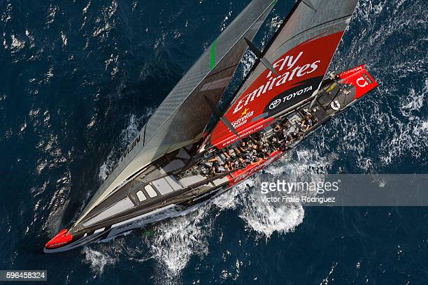23 June 2007 Valencia Spain 32nd America's Cup challenger Emirates Team New Zealand sails in Valencia Photo by Victor Fraile Image by © Victor...