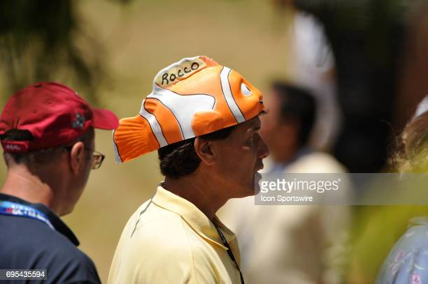A Rocco Mediate fan during the 108th US Open Championship playoff round at Torrey Pines South Golf Course in San Diego CA