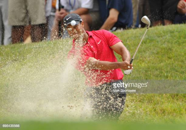 Tiger Woods during the 108th US Open Championship playoff round at Torrey Pines South Golf Course in San Diego CA