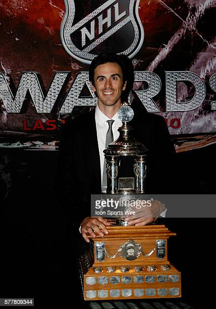 Ryan Miller of the Buffalo Sabres received the Vezina Trophy for outstanding goalie during the 2010 National Hockey League Awards at The Pearl in The...