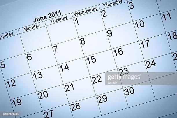 Calendário de Junho de 2011