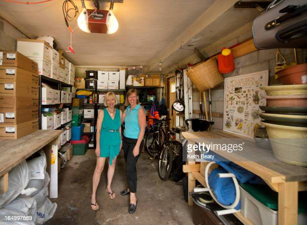 the 'after' photos of Leanne Cross's decluttered bedroom and garage One pic of her with her professional organizer Susannah Coneybeare who helped...
