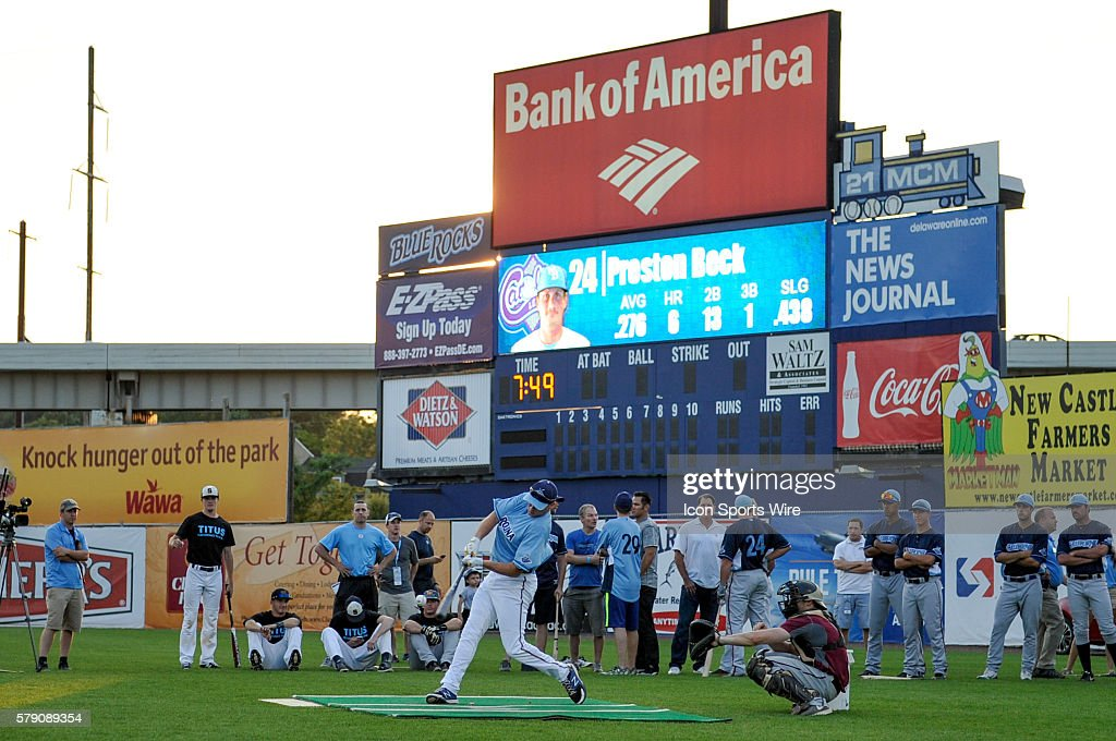 Carolina League All-Star Preston Beck bats during the News Photo ...