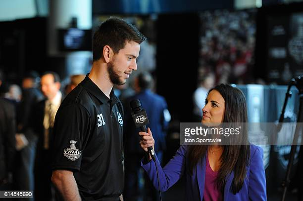 Los Angeles Kings Goalie Martin Jones [6752] during Media Day for the Stanley Cup Finals at STAPLES Center in Los Angeles CA